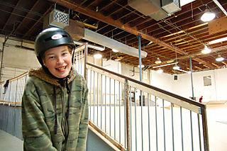 Justin at the Dept of Skateboarding